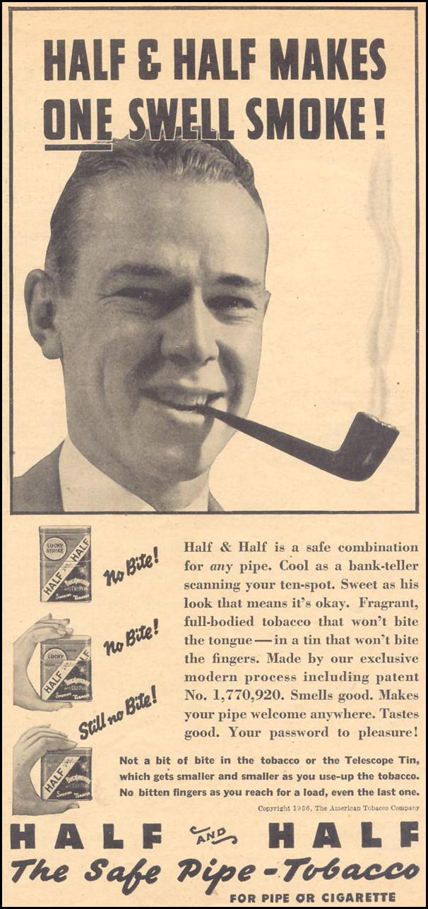 HALF AND HALF PIPE TOBACCO LIBERTY 08/29/1936 p. 23
