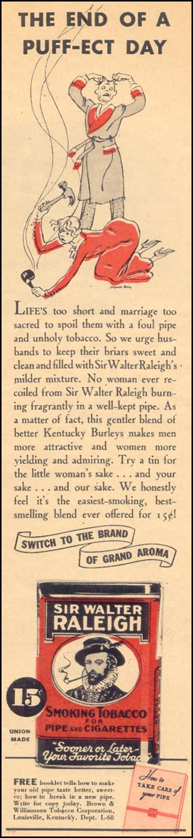 SIR WALTER RALEIGH PIPE TOBACCO LIBERTY 08/29/1936 p. 43