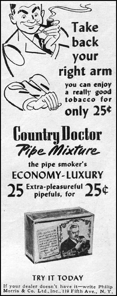 COUNTRY DOCTOR PIPE MIXTURE LIFE 06/04/1945 p. 98