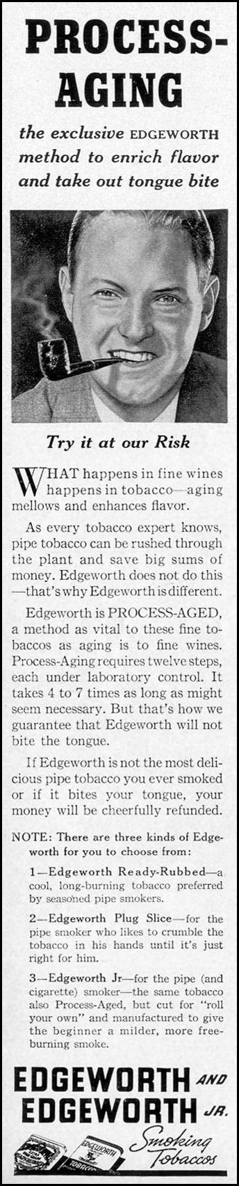 EDGEWORTH AND EDGEWORTH JR. SMOKING TOBACCOS LIFE 07/26/1937 p. 88