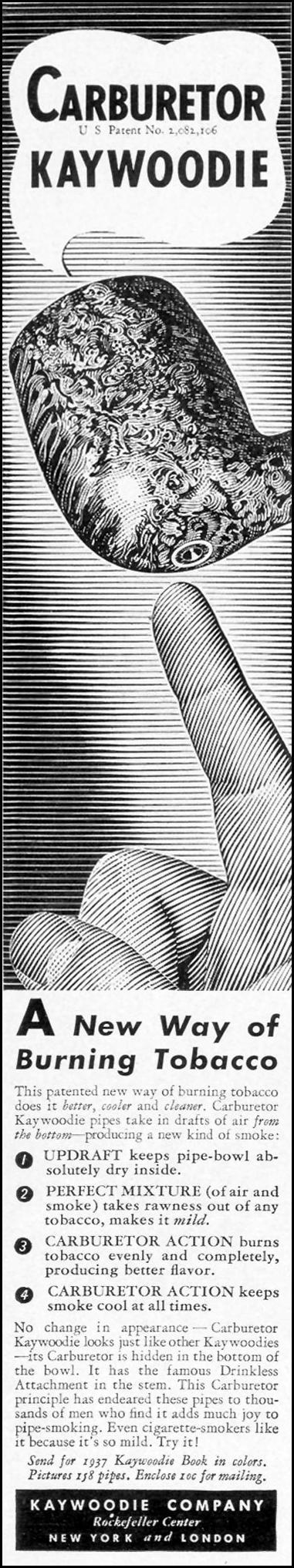 KAYWOODIE CARBURETOR PIPE LIFE 09/20/1937 p. 9