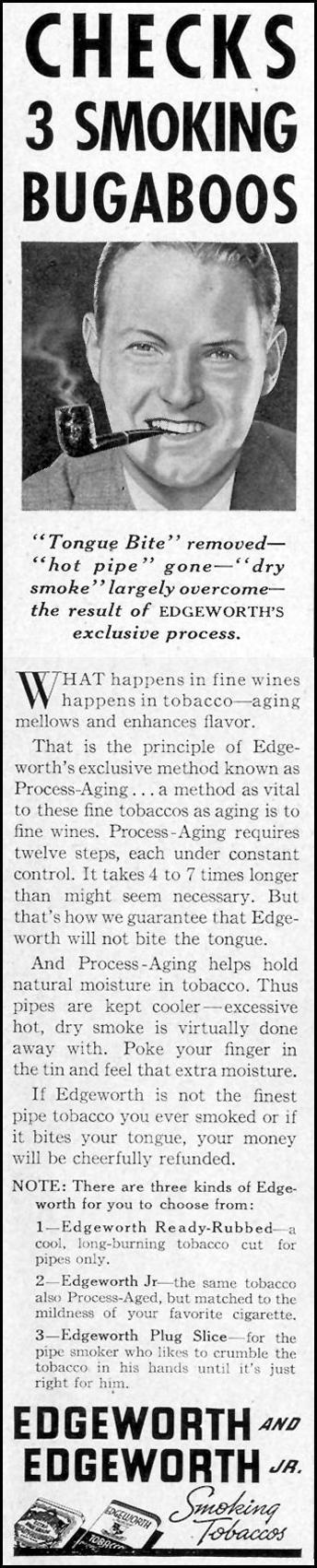 EDGEWORTH AND EDGEWORTH JR. SMOKING TOBACCOS LIFE 09/20/1937 p. 99