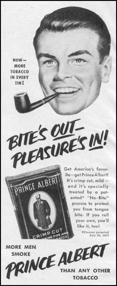 PRINCE ALBERT PIPE TOBACCO LIFE 10/13/1952 p. 90