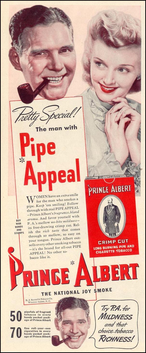 PRINCE ALBERT PIPE TOBACCO LIFE 11/08/1943 p. 64
