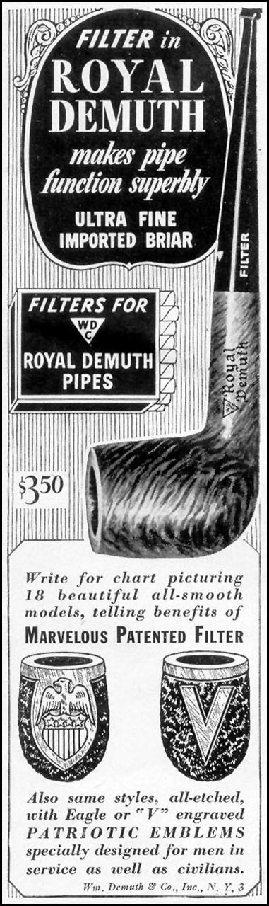 ROYAL DEMUTH PIPES LIFE 11/08/1943 p. 113