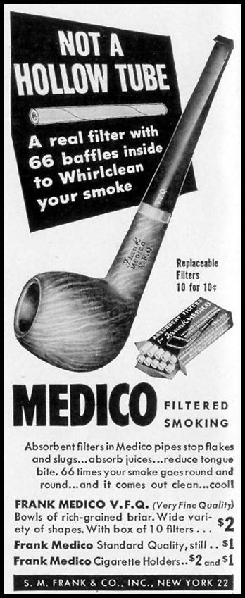 FRANK MEDICO V. F. Q. PIPE LIFE 11/15/1948 p. 12