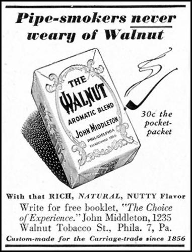 THE WALNUT AROMATIC BLEND SATURDAY EVENING POST 10/06/1945 p. 97