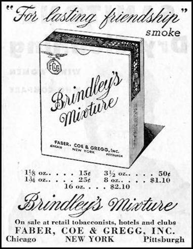 BRINDLEY'S MIXTURE SATURDAY EVENING POST 10/06/1945 p. 107