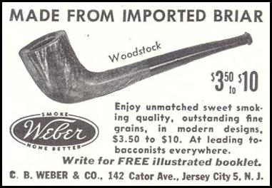 WEBER BRIAR PIPES SATURDAY EVENING POST 10/06/1945 p. 117