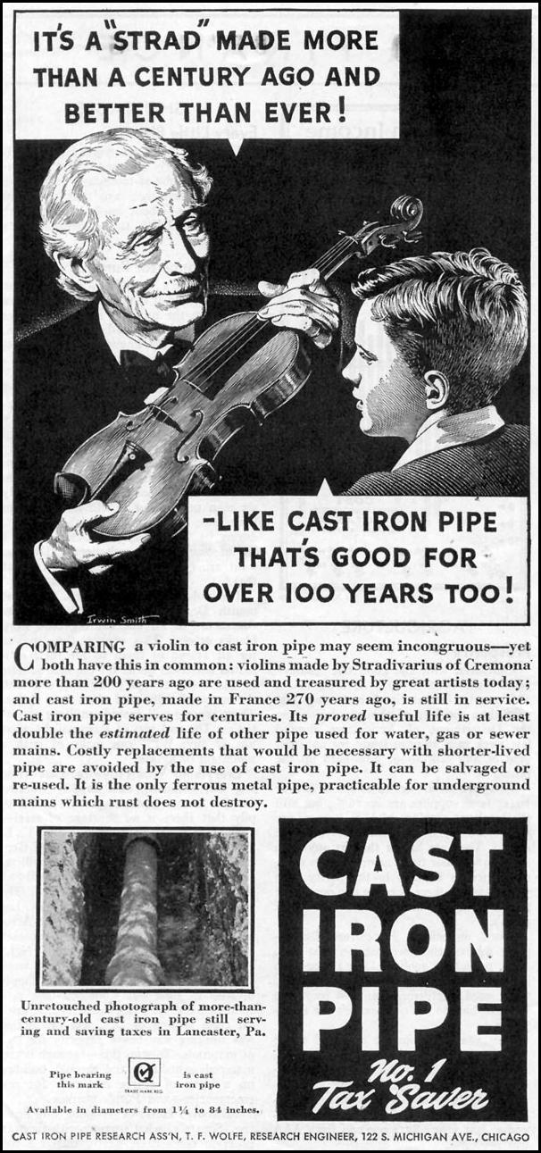 CAST IRON PIPE TIME 08/17/1942 p. 70