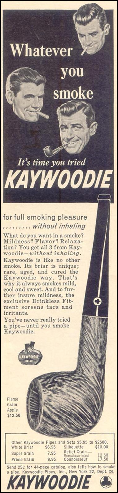 KAYWOODIE PIPES TIME 12/07/1962 p. 43