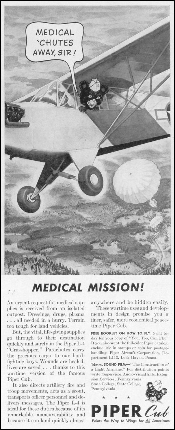 PIPER-CUB L-4 LIFE 11/08/1943 p. 91