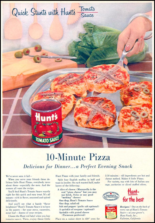 HUNT'S TOMATO SAUCE FAMILY CIRCLE 01/01/1956 p. 39
