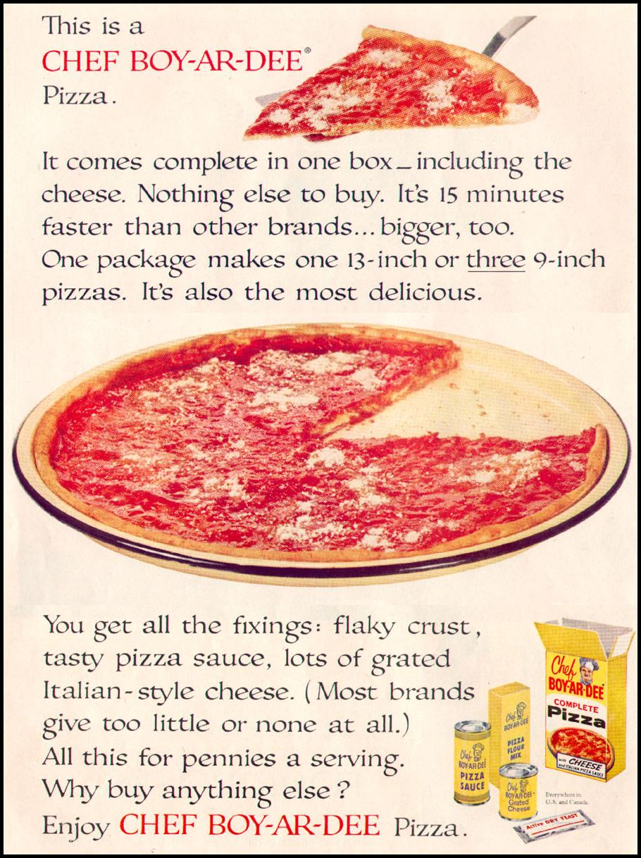 CHEF BOY-AR-DEE PIZZA KIT LIFE 12/14/1959 p. 40