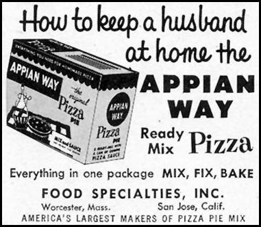 APPIAN WAY PIZZA MIX SATURDAY EVENING POST 02/05/1955 p. 82
