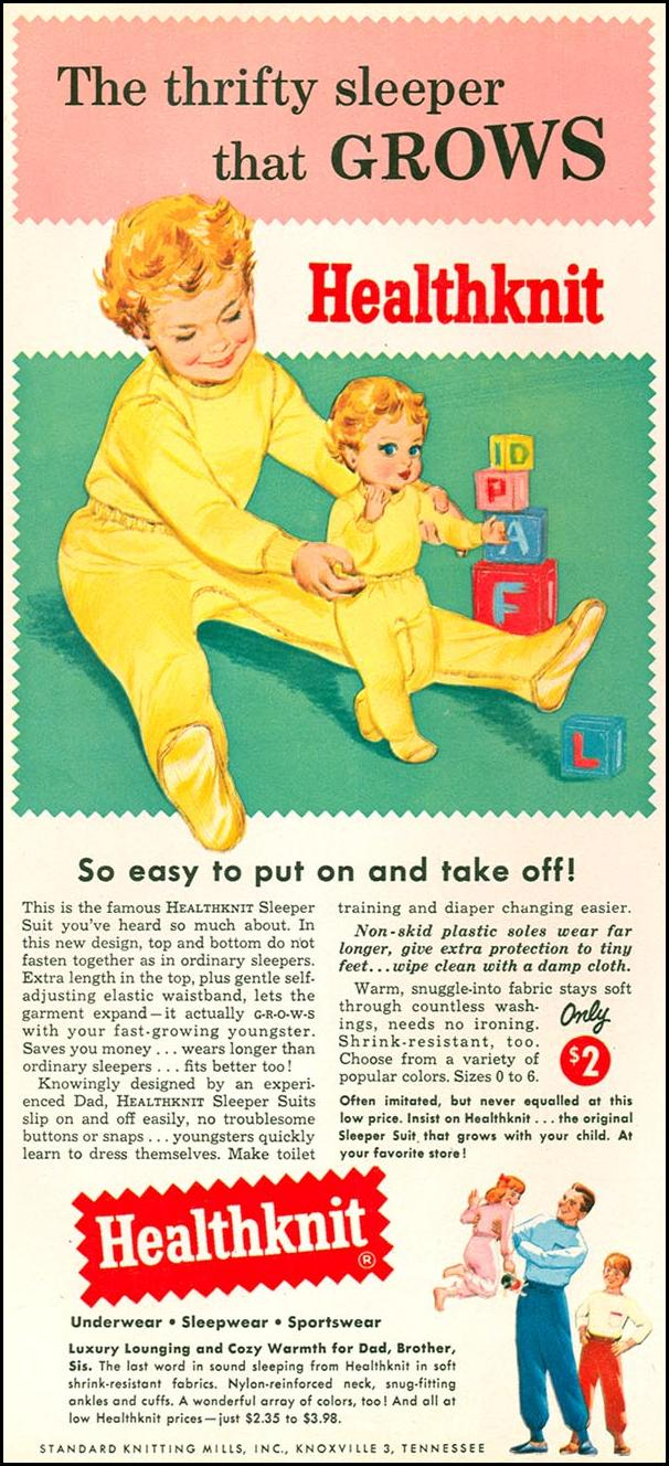 HEATHKNIT SLEEPWARE WOMAN'S DAY 10/01/1956 p. 26