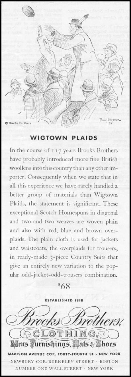 WIGTOWN PLAIDS NEWSWEEK 11/09/1935 p. 33