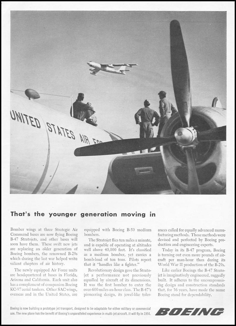 BOEING B-47 STRATOJET BOMBER TIME 06/08/1953 p. 49