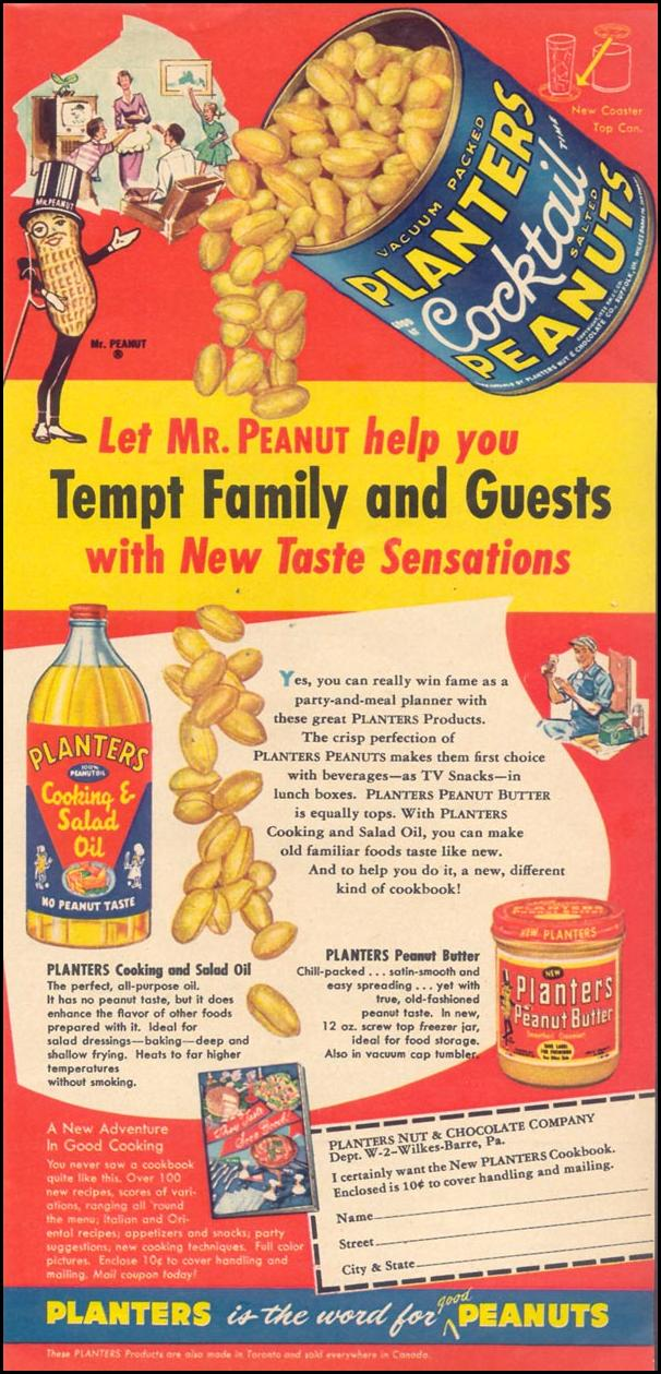 PLANTERS PEANUTS WOMAN'S DAY 11/01/1955 p. 21