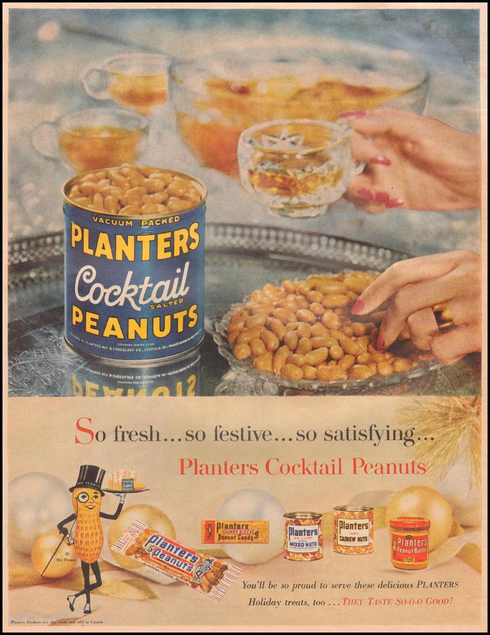 PLANTERS PEANUTS LIFE 11/24/1957 p. 6