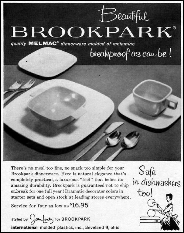 MELMAC DINNERWARE LIFE 09/09/1957 p. 106