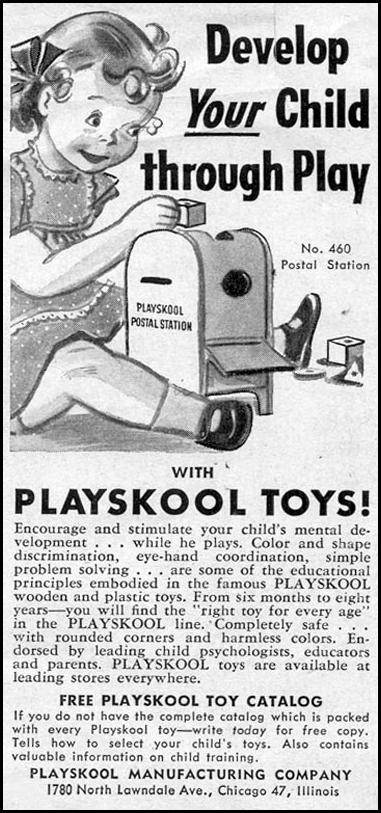 PLAYSKOOL TOYS WOMAN'S DAY 11/01/1949 p. 92