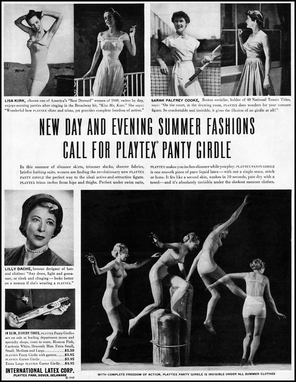 PLAYTEX PANTY GIRDLE LADIES' HOME JOURNAL 07/01/1949 p. 29
