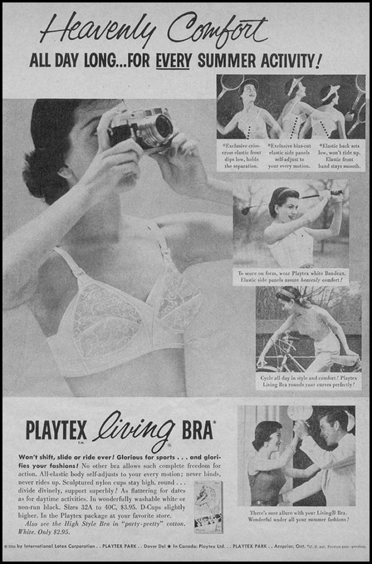PLAYTEX LIVING BRA PHOTOPLAY 08/01/1956 p. 27