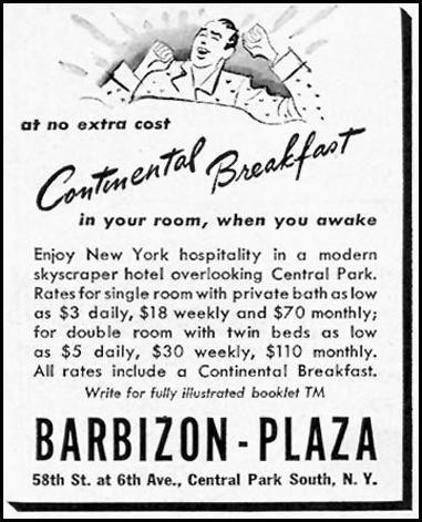 BARBIZON-PLAZA HOTEL TIME 02/16/1942 p. 41