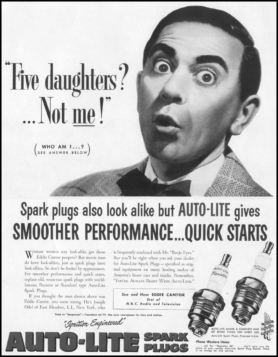 AUTO-LITE SPARK PLUGS LIFE 06/16/1952 p. 38