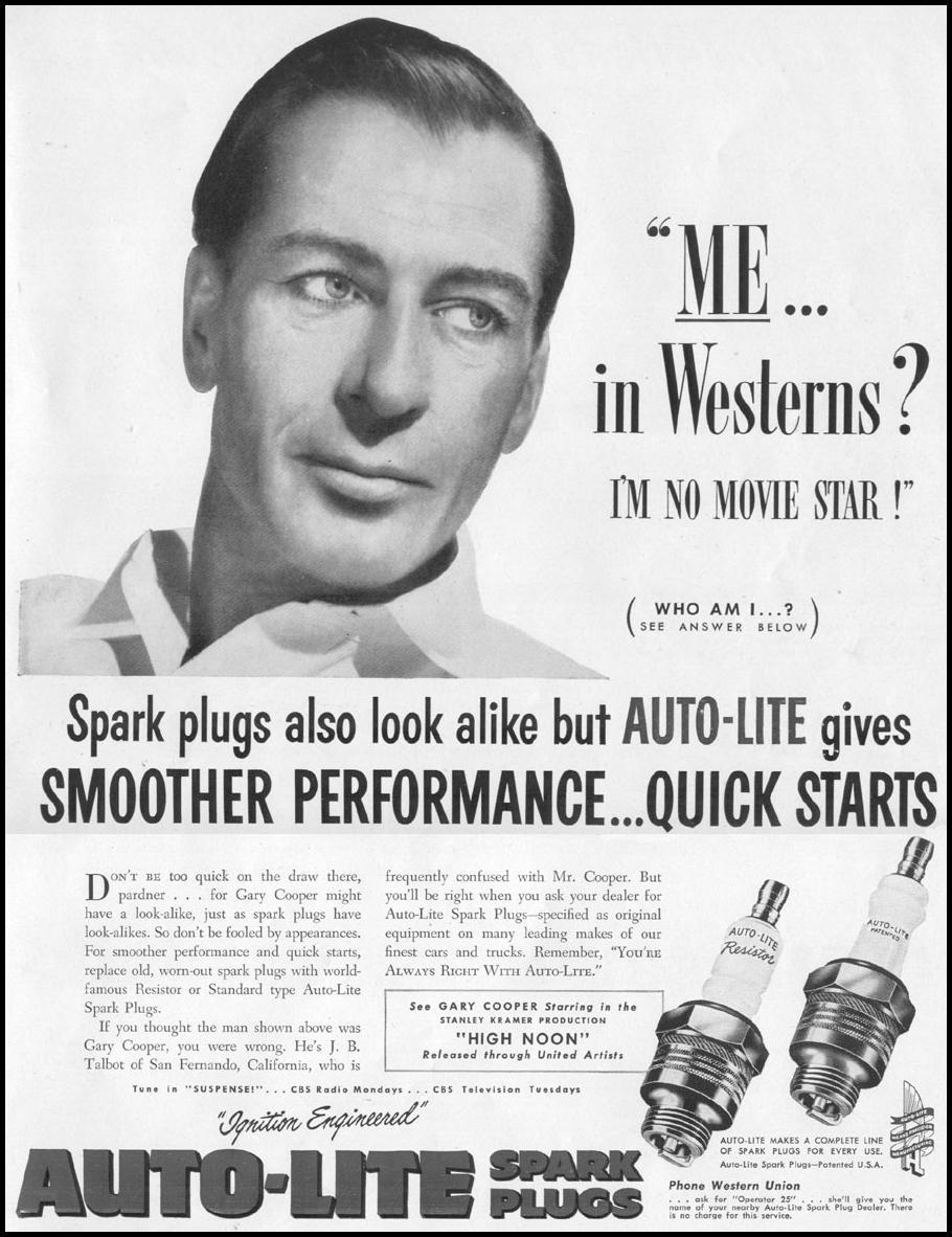 AUTO-LITE SPARK PLUGS LIFE 10/13/1952 p. 3