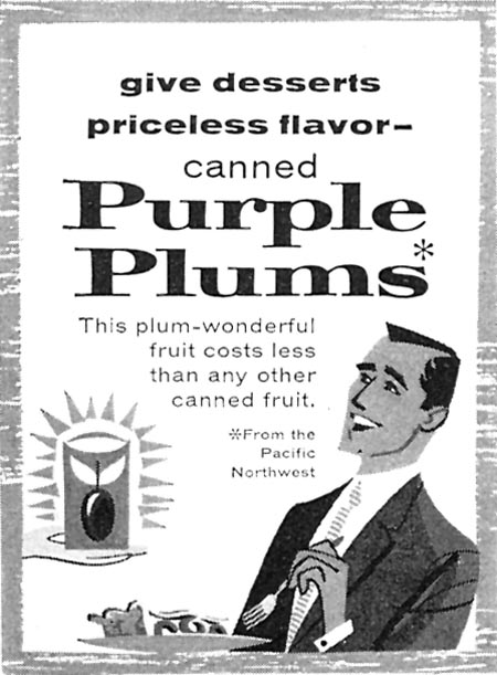 CANNED PURPLE PLUMS FAMILY CIRCLE 02/01/1957 p. 2