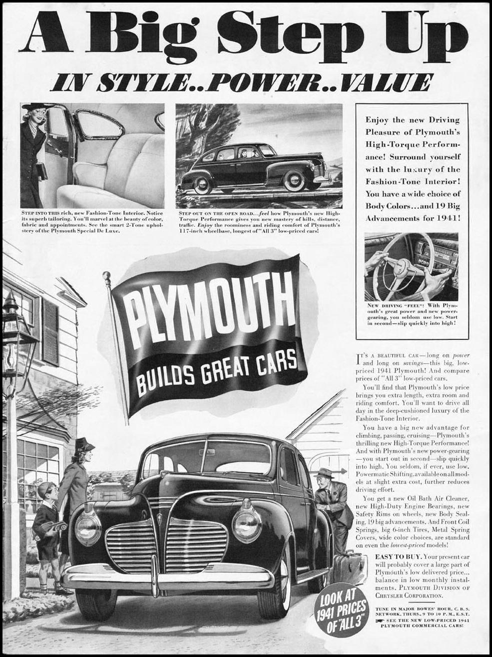 PLYMOUTH AUTOMOBILES LIFE 12/16/1940 p. 1