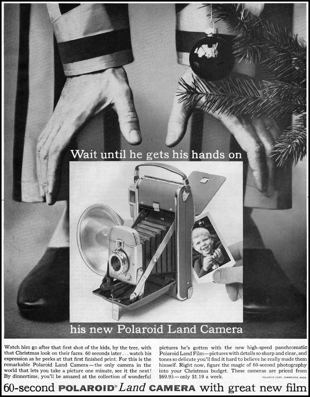 POLAROID LAND CAMERA SATURDAY EVENING POST 12/10/1955 p. 106