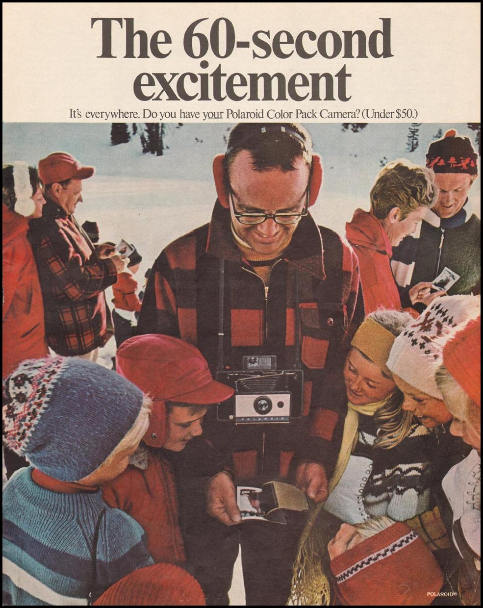 POLAROID COLOR PACK CAMERA SATURDAY EVENING POST 12/28/1968 p. 13