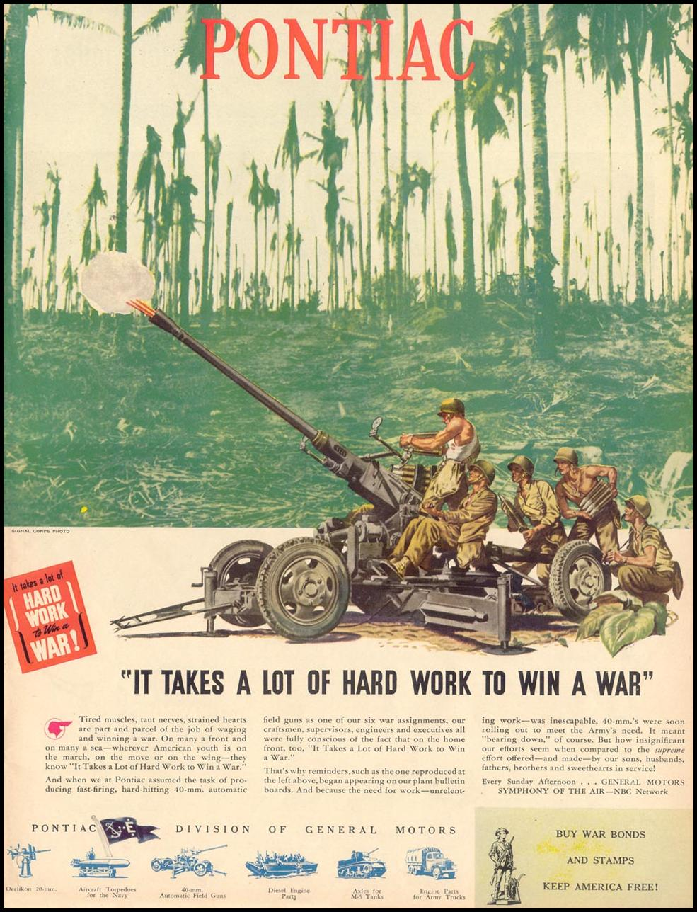 PONTIAC WAR PRODUCTION LIFE 02/28/1944