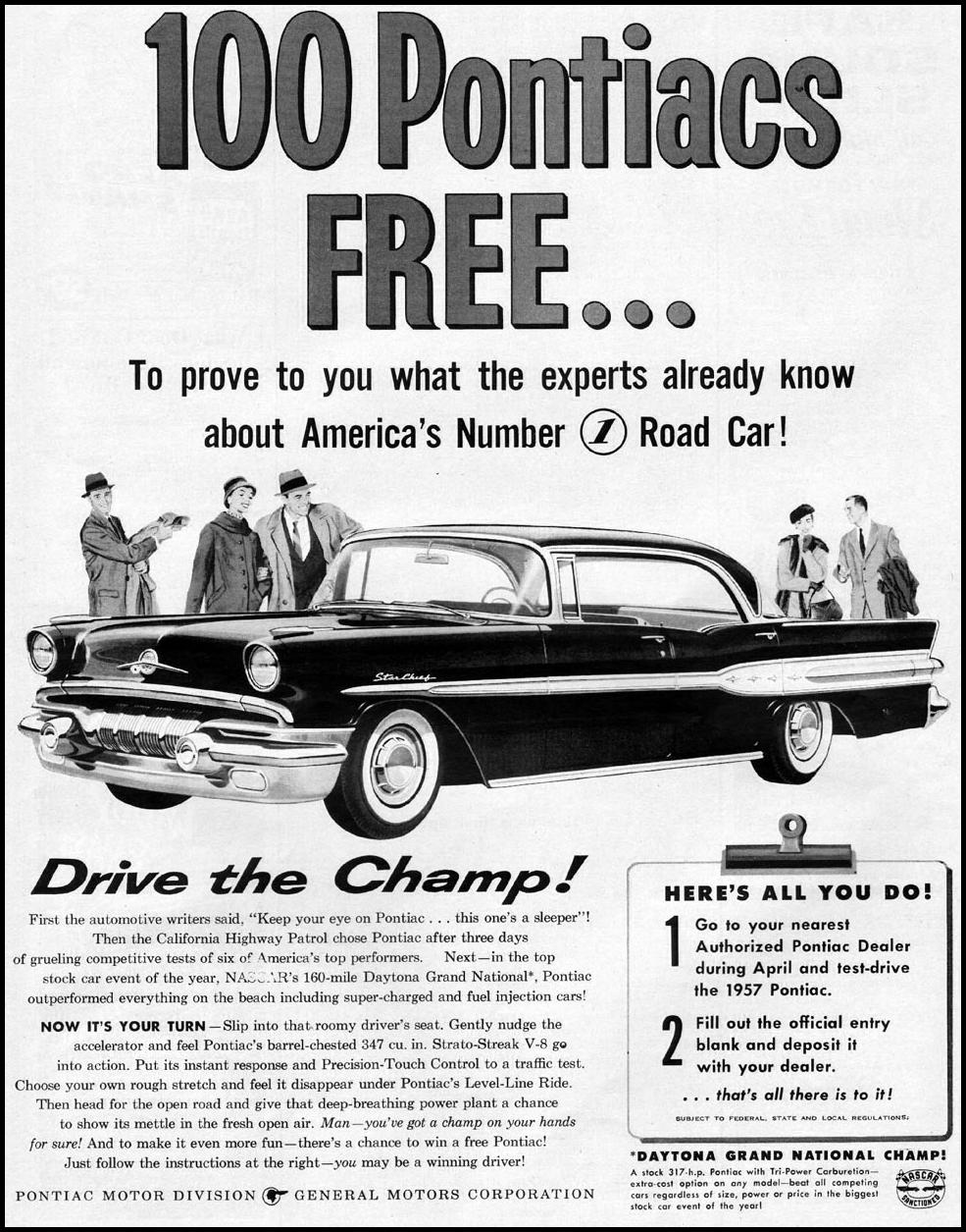 PONTIAC AUTOMOBILES LIFE 04/01/1957 p. 123