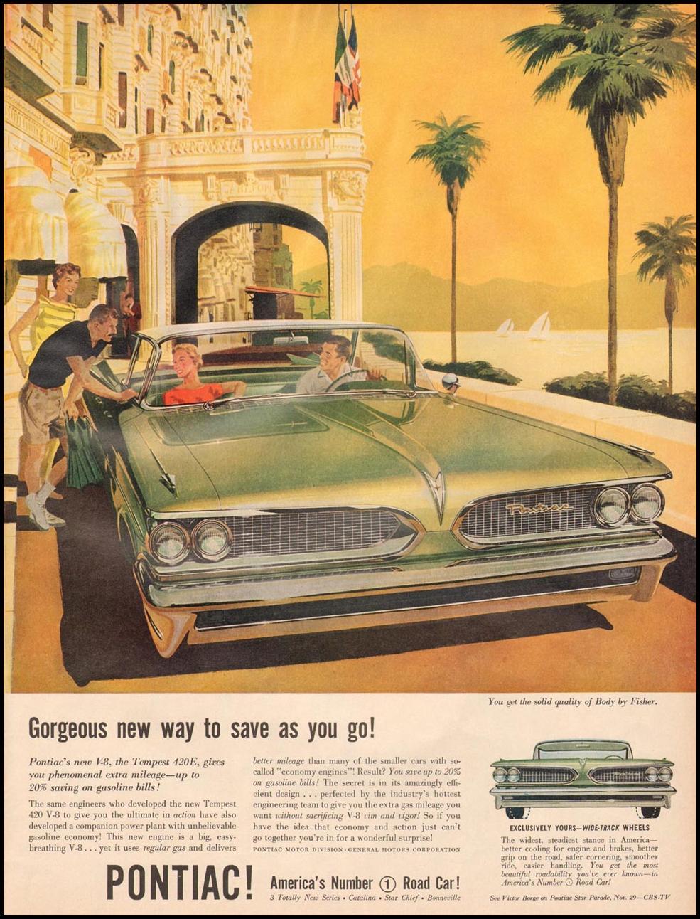 PONTIAC AUTOMOBILES LIFE 11/24/1958