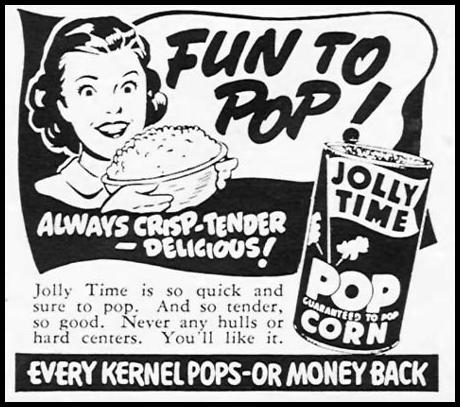 JOLLY TIME POPCORN WOMAN'S DAY 02/01/1954 p. 156