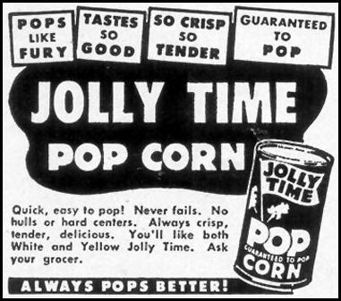 JOLLY TIME POPCORN WOMAN'S DAY 05/01/1950 p. 124
