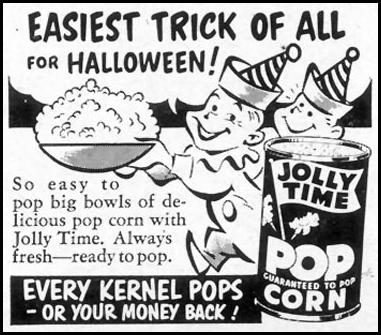 JOLLY TIME POPCORN WOMAN'S DAY 10/01/1954 p. 173