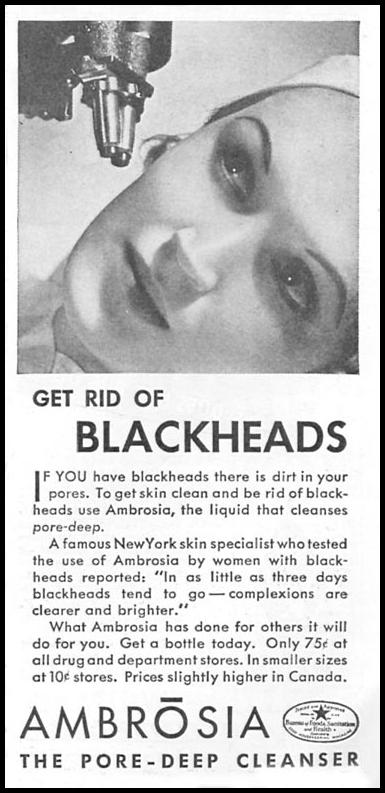 AMBROSIA SKIN CLEANSER GOOD HOUSEKEEPING 06/01/1935 p. 207