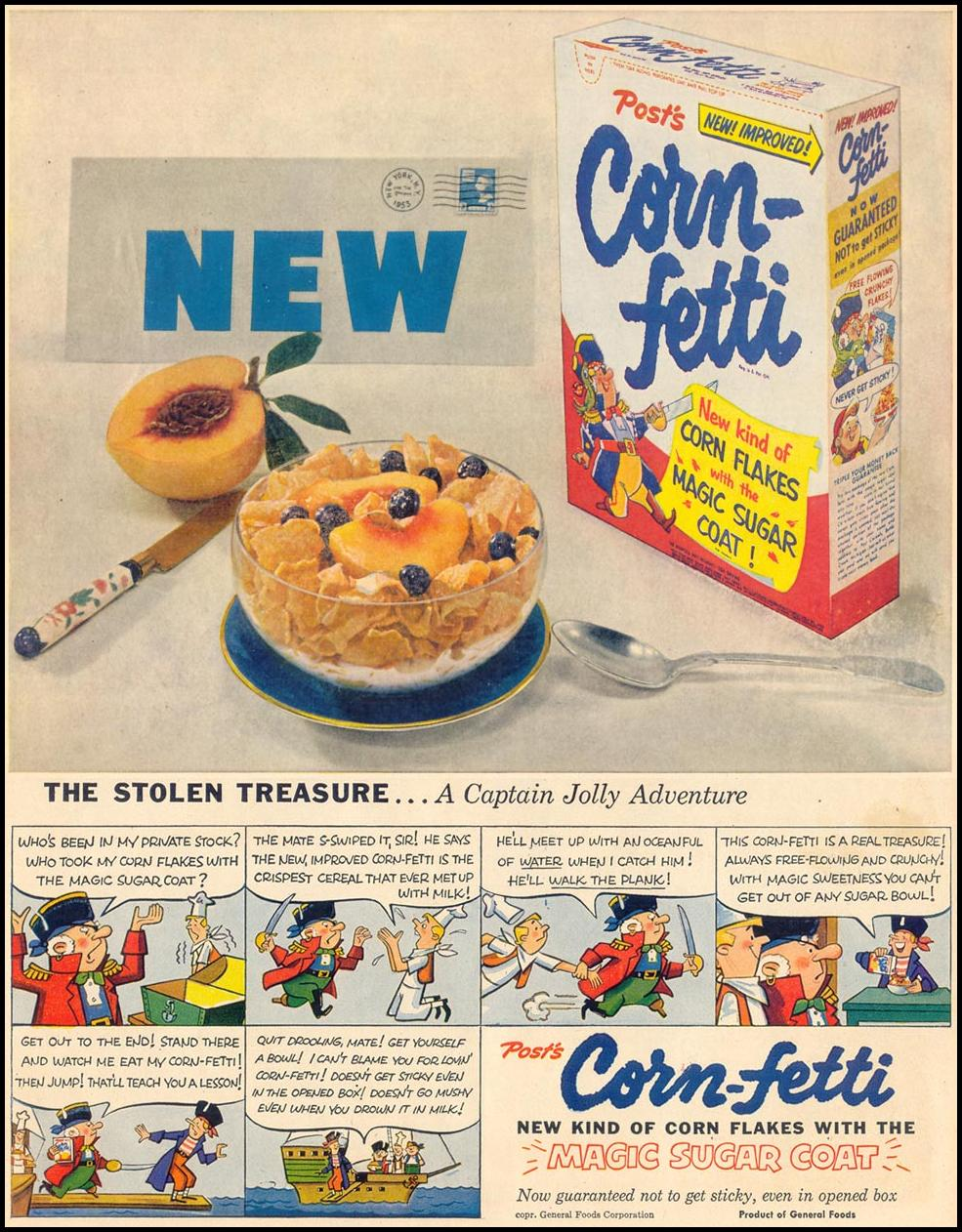 POST CORN-FETTI CEREAL LIFE 04/13/1953 p. 49