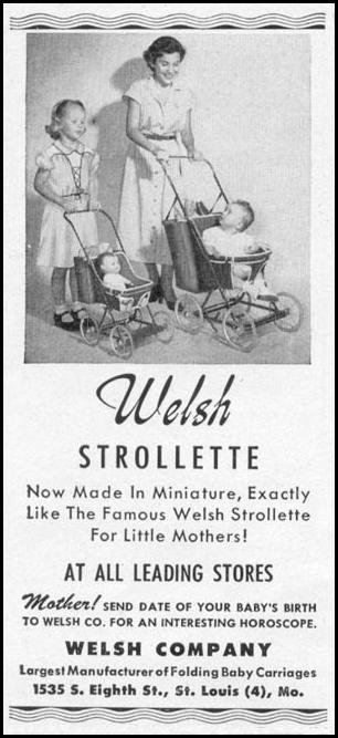 WELSH STROLETTE MINIATURE BABY CARRIAGE WOMAN'S DAY 10/01/1949 p. 142