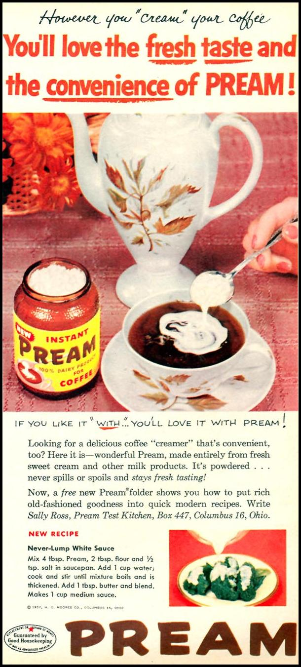 PREAM INSTANT CREAMER FAMILY CIRCLE 02/01/1957 p. 45