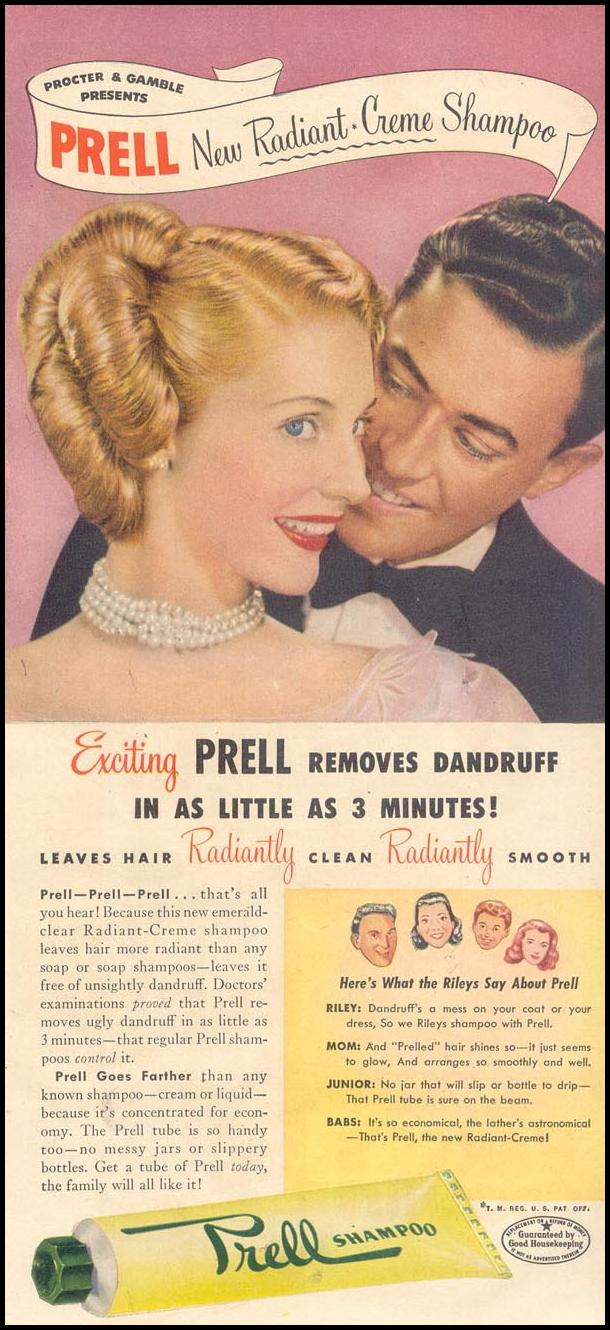 PRELL SHAMPOO GOOD HOUSEKEEPING 07/01/1948 p. 111