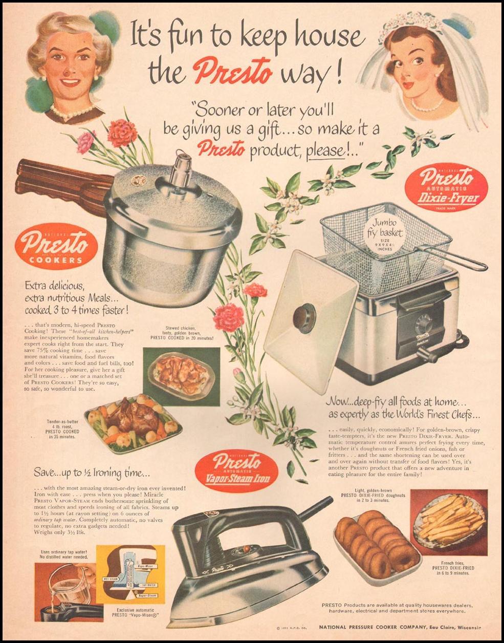 PRESTO COOKERS LIFE 04/30/1951 p. 68