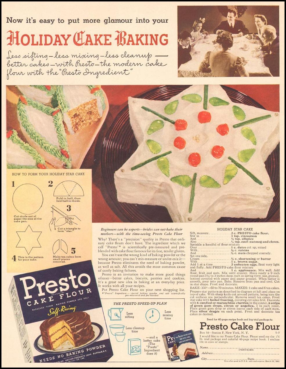 PRESTO CAKE FLOUR LIFE 12/16/1940 p. 49