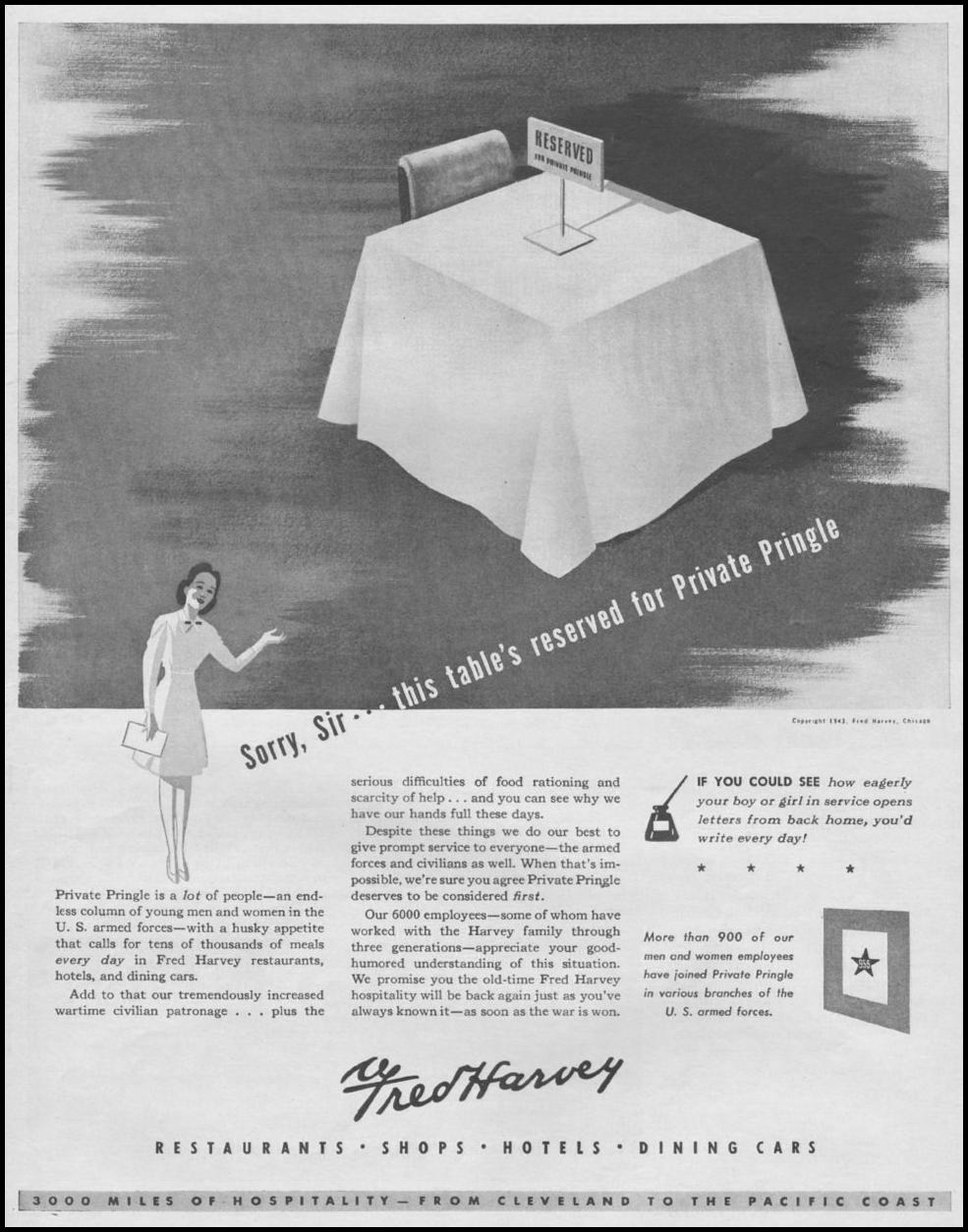 FRED HARVEY RESTAURANTS LIFE 08/09/1943 p. 63