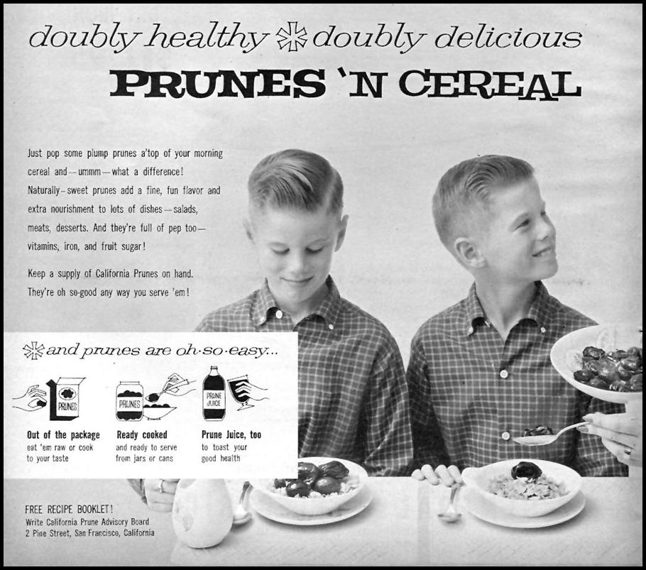 CALIFORNIA PRUNES FAMILY CIRCLE 11/01/1957 p. 80